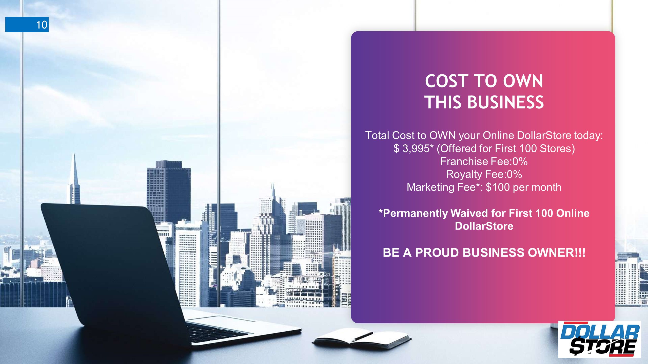Cost to own a dollarstore business