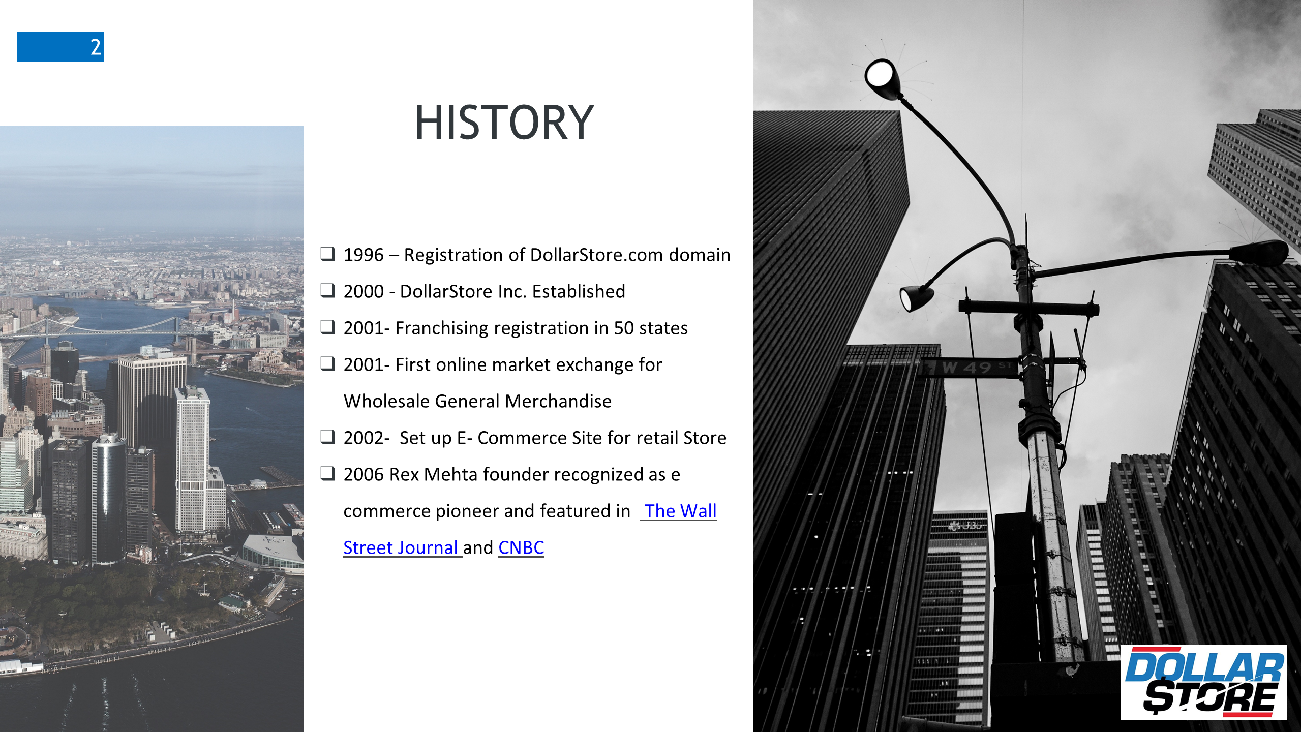 History of DollarStore